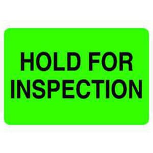 National Marker Company Hold for Inspection Custom Label NCU52621