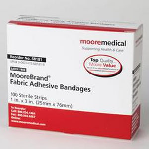 Moore Medical 3/4 x 3 in. Fabric Strip Adhesive Bandage M466871