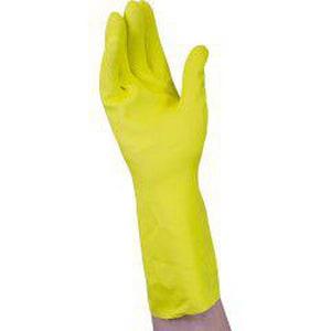 National Paper & Plastics Handgards® S Size Latex Gloves in Yellow HP3481