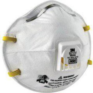 3M Disposal Particulate Respirator in White (Box of 10, Case of 8 Boxes) 3M8210V