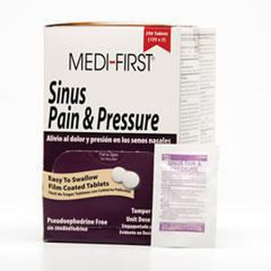 Medi-First® 5 mg Phenylephrine Non-pseudo Sinus Pain and Pressure Tablet M787827