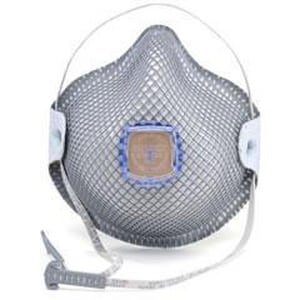 3M HandyStrap® M/L Size Cloth, Dura-Mesh® and Carbon Disposable Particulate Respirator in Grey (Box of 10) MOL2740R95