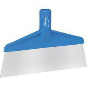 Remco Products Vikan® 10-1/4 x 1-1/4 x 6-9/10 in. Stainless Steel Floor Scraper in Blue REM29103