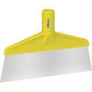Remco Products Vikan® 10-1/4 x 1-1/4 x 6-9/10 in. Stainless Steel Floor Scraper in Yellow REM29106