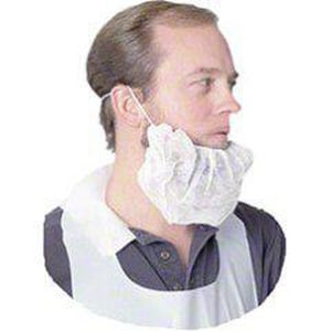 Safety Zone 18 in. Polypropylene Beard Cover in White (Bag of 100, Case of 10 Bags) SDBRD1000