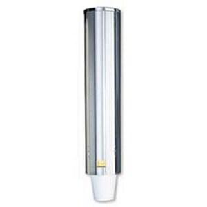 San Jamar 10 oz. Plastic and Stainless Steel Pull Type Plastic/Foam Cup Dispenser SC4200PF