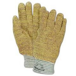 Wells-Lamont M Size Kevlar® and Cotton Gloves in Yellow and White W9001