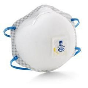 3M Cool Flow™ Standard Carbon Filter Disposable Particulate Respirator in White 3M05113854285HOWBR