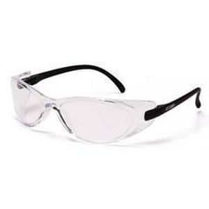 Pyramex Safety Products GT 2000® Polycarbonate Safety Glasses with Black Frame and Clear Lens PSB2010S