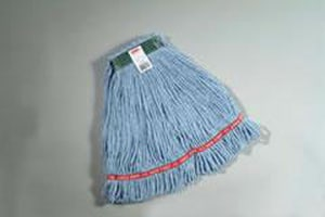 Rubbermaid Web Foot® 1 in. Cotton and Synthetic Yarn Blend Wet Mop in Blue RFGA1120600