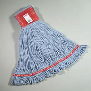 Rubbermaid Web Foot® 5 in. Cotton and Synthetic Yarn Blend Wet Mop in Blue RFGA15306BL00
