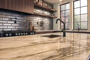 Brizo Litze™ Single Handle Lever Handle Bar Faucet in Luxe Gold with Matte Black D61063LFBLGL