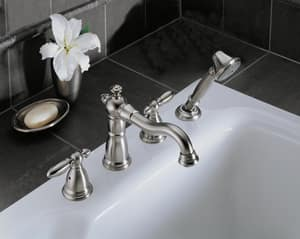 Delta Faucet Victorian® 7 in. Metal Handle Kit in Brilliance Stainless DH616SS