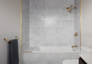 Brizo Litze™ Dual Function Thermostatic Valve Trim in Brilliance Luxe Gold DT75535GLLHP