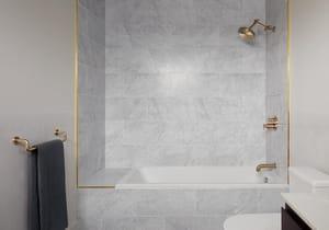Brizo Litze™ 7-9/16 in. Tub Spout in Brilliance Luxe Gold DRP81437GL