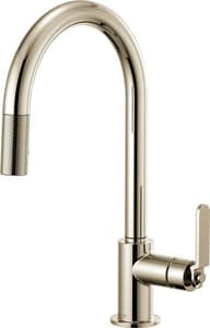 Brizo Litze™ Single Handle Pull Down Kitchen Faucet in Brilliance® Polished Nickel D63044LFPN