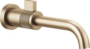 Brizo Litze™ Single Handle Wall Mount Bathroom Sink Faucet in Brilliance Luxe Gold DT65735LFGLECO