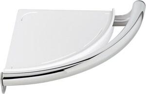 Delta Faucet Decor Assist™ 9-1/8 in. Bath Safety Contemporary Corner Shelf with Assist Bar in Matte Black D41516BL