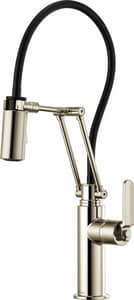 Brizo Litze™ Single Handle Pull Down Kitchen Faucet in Brilliance® Polished Nickel D63244LFPN