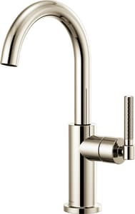 Brizo Litze™ Single Handle Knurled Handle Bar Faucet in Polished Nickel D61043LFPN