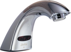 Delta Faucet Innovations® No Handle Sensor Bathroom Sink Faucet in Polished Chrome D590LFLGHGMHDF