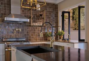 Brizo Litze™ Single Handle Lever Handle Bar Faucet in Luxe Gold D61044LFGL