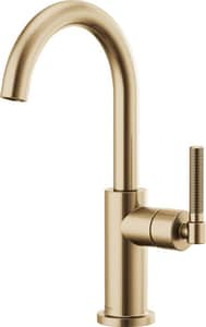 Brizo Litze™ Single Handle Knurled Handle Bar Faucet in Luxe Gold D61043LFGL