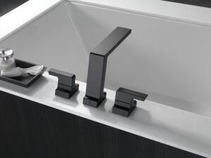 Delta Faucet Pivotal Two Handle Roman Tub Faucet in Matte Black Trim Only DT2799BL