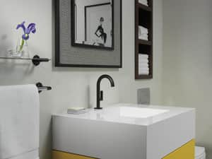 Brizo Jason Wu Single Handle Sensor Bathroom Sink Faucet in Matte Black D65675LFBLECO