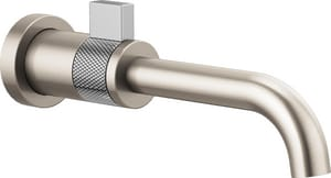 Brizo Litze™ 1-Hole 1.5 gpm Wall Mount Lavatory Faucet with Single Lever Handle in Luxe Nickel with Polished Chrome DT65735LFNKPCECO