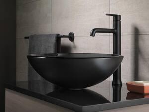Delta Faucet Trinsic® Single Handle Vessel Filler Bathroom Sink Faucet in Matte Black D759BLDST