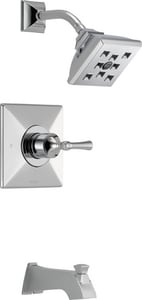 Brizo Vesi® Pressure Balance Tub and Shower Trim with Single Lever Handle in Polished Chrome (Trim Only) DT60P440