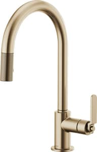 Brizo Litze™ Single Handle Pull Down Kitchen Faucet in Luxe Gold D63044LFGL