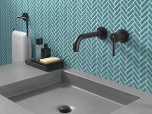 Delta Faucet Trinsic® Rectangular Open Towel Ring in Matte Black D759460BL