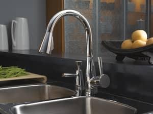 Brizo Venuto® 5-3/8 in. 13 oz Kitchen Soap Dispenser in Polished Chrome DRP42878