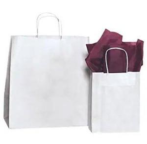 Duro Hilex 14 x 10 x 15-3/4 in. Paper Shopping Bag in White (Case of 200) D85934