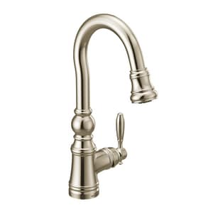 Moen Weymouth™ Single Handle Lever Bar Faucet in Polished Nickel MS53004NL