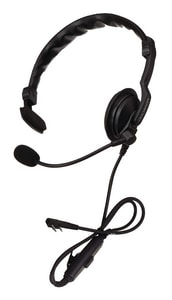 Kenwood Single Muff Headset in Black KKHS7A at Pollardwater
