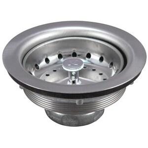 Keeney 3-1/2 x 4-1/2 in. Stainless Steel Sink Strainer KEE1431SSBX