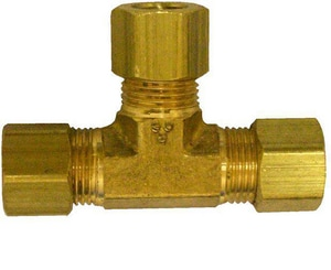 Holiday House 3/8 x 3/8 x 1/4 in. MPT Reducing Brass Compression Tee HCT664