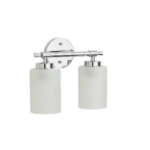 Mirabelle® Edenton 2 Light 60W Up/Down Facing Bathroom Vanity Fixture Polished Chrome MIRMLED2LGT