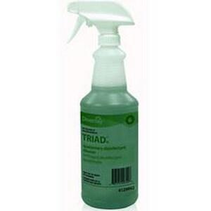 Diversey 32 oz. Polyethylene Empty Trigger Spray Bottle for Triad III Disinfectant Cleaner DIVDIV03917