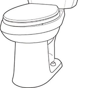 Gerber Plumbing Viper™ 1.28 gpf Elongated Floor Mount Toilet Bowl in Biscuit GVP21528BS