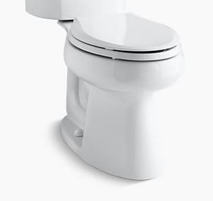 Kohler Wellworth® Elongated Bowl in White with Left-Hand Trip Lever KP4198-0