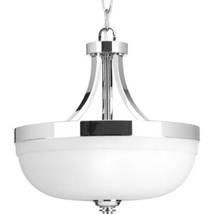 Progress Lighting Topsail 75W 3-Light Medium E-26 Incandescent Semi-Flush Mount Ceiling Fixture in Polished Chrome PP350063015
