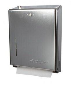 San Jamar C-Fold or Multi-Fold Towel Dispenser in Matte Chrome SANJT1900XC