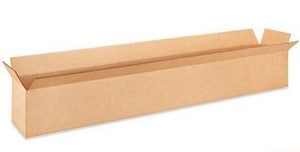 38 x 6 x 6 in. Kraft Plain Glued Regular Slotted Carton with 32ECT J38UURPGC32