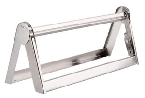 Bulman 20 in. Stainless Steel Wall Mount Paper Cutter and Dispenser BA50218