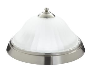 Mirabelle® Key West 2 Light 60W Medium Flushmount Ceiling Light Brushed Nickel MIRBRKWFMLGTBN