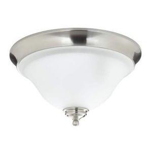 Mirabelle® St. Augustine 2 Light 60W Flush Mount Ceiling Light Brushed Nickel MIRSAFMLGT